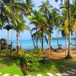 Der Blick aus unserem Bungalow @ Ngamkho Resort