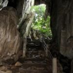 Blick aus der Phnom Chhngauk Höhle