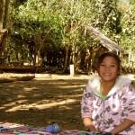 junge Dorfbewohnerin