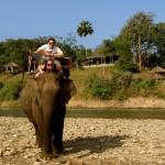Tobi & Ulli beim Elefantenreiten