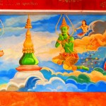 Wandmalereien am Mount Phousi