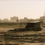 gestrandetes Boot im ehemaligen Boeng Kak