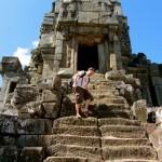 Angkor - Stiegensteigen bei 40°
