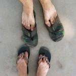 Schöne Füße nach einem Tag Tempelbesichtigen