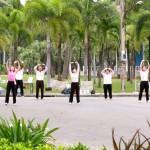 Gymnastik Gruppe im Lumphini Park