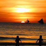 Traumhafter Sonnenuntergang am White Beach Boracay