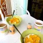 Unser himmlisches selbstgemachtes Frühstück im Apartement D'Legend D'Legacy Boracay