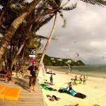 Auskundschaften des Bulabog Beach (Kitebeach) Boracay
