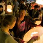 Chiang Mai - beim anzünden der Himmelslaterne