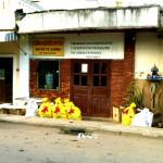 Das GANZ auffällige Gibbon Experience Headquarter in Huay Xai