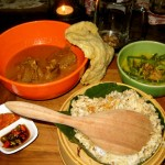 Indonesisches Curry im Restaurant Biku