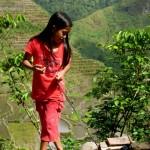 junge Filipina aus Batad