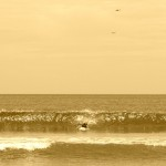Langsam werden die Wellen auch schon größer...