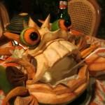 Pina Colada aus dem Schlund des Kokosnussmonsters im Poppies Restaurant