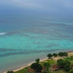 Blick auf die türkisblaue Lagune