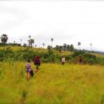 Trekkingtruppe auf Rinca