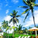 Unser schönes Bhanuswari Resort Ubud mitten in Reisfeldern