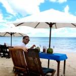 Jimbaran Strand - in der Seafood Warung Lia